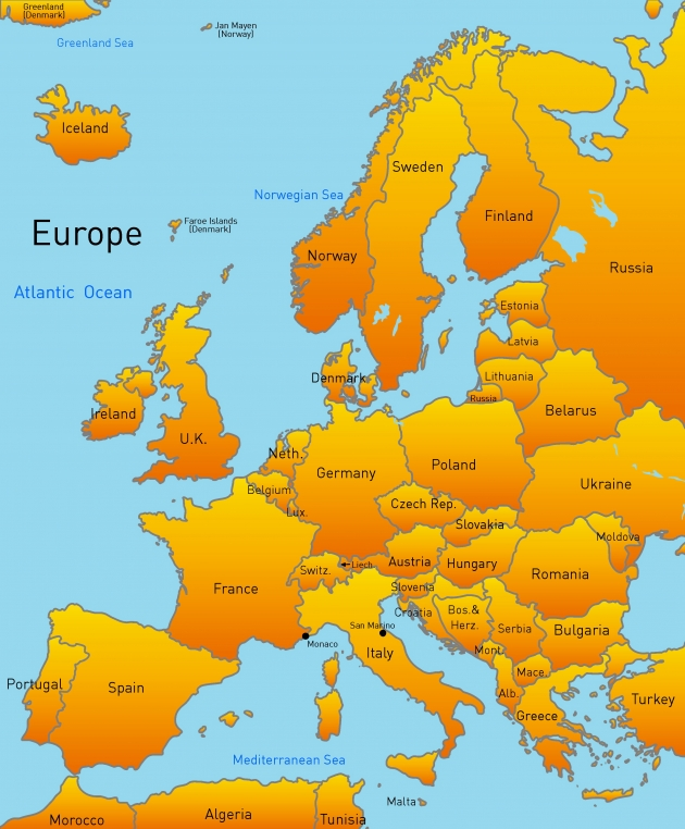 Europe Map Map Pictures – The Map of Europ